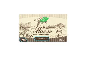 Масло сладкосливочное 73% Селянське Млекоферма м/у 400г