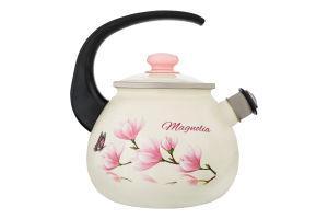 Чайник эмалированный 2.5л №27115/2 Magnolia Idilia 1шт