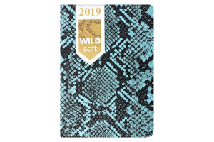 Ежедневник дат. 2019 WILD soft, A6, 336 стр, голубой