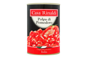Томати очищені шматочками у власному соку Casa Rinaldi з/б 400г