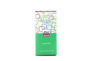 Шоколад Maglio чорний екстра гіркий 81% какао 100г