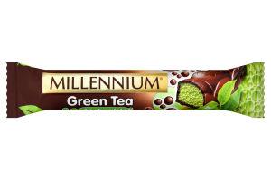 Шоколад Millennium Green Tea пористий чорний 32г х14