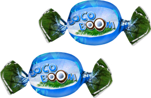 Цукерки глазуровані кокосові Cocoboom кг