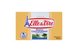 Масло 82% сливочное несоленое Elle&Vire м/у 200г