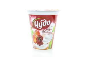 Йогурт 2,5% вишня-черешня Чудо стак 300г