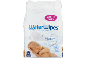 WaterWipes Chemical Free Baby Wipes - 240 CT