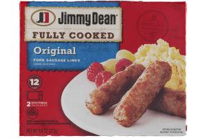 Jimmy Dean Fully Cooked Pork Sausage Links Original Flavor - 12 CT