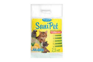 Наполнитель для туалета Лимон SaniPet Природа 2.5кг