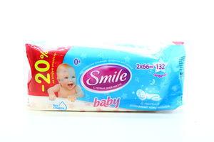 Серветки Smile baby вологі 0+ 2*66шт х6