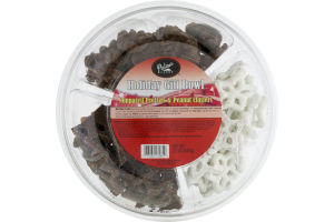 Palmer's Candy Holiday Gift Bowl Nonpareil Pretzels & Peanut Clusters