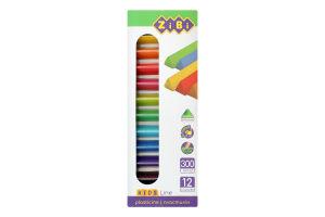 Набір пластиліну 12 кольорів №ZB.6227 Kids Line Zibi 1шт