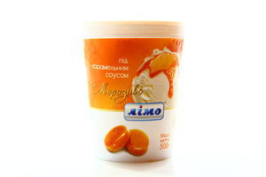Мороженое под карамельным соусом Лімо 500г
