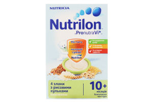 Каша Nutricia Nutrilon молоч.4 злаки з рис.кульками 225гх14