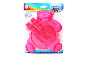 Набор посуды для детей от 6мес тарелка Мишка с вилкой и ложкой №2/422 Canpol Babies 1шт