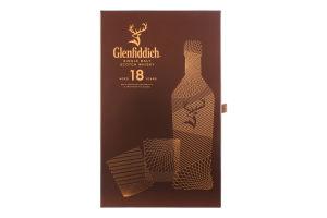 Набір віскі 0.7л 40% односолодовий 18 років+2 стакана Glenfiddich