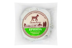 Сыр 25.05% мягкий с укропом Брынза Чернолесская Лісова коза кг