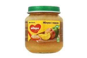 Пюре для дітей від 6міс Яблуко і персик Milupa с/б 125г
