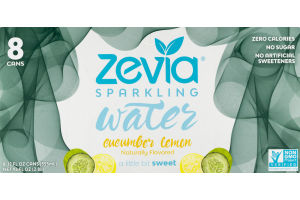 Zevia Sparkling Water Cucumber Lemon - 8 CT