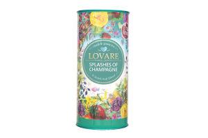 Чай черный и зеленый листовой с кусочками ягод Брызги шампанского Lovare ж/б 80г