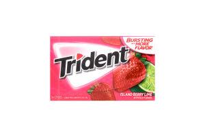 Резинка жевательная Trident клубника-лайм