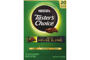 Nescafe Taster's Choice Instant Coffee Decaf House Blend Single Serve Packets - 22 CT