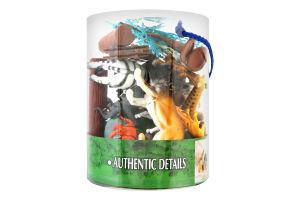 Набір іграшок для дітей від 3років №D33703 Дикі тварини Wing Crown Plastic Products 1шт