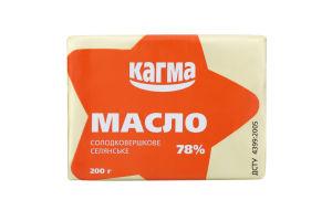 Масло солодковершкове 78% Селянське Кагма м/у 200г