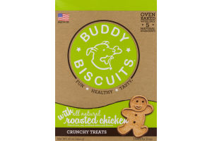 Buddy Biscuits Crunchy Treats with All Natural Roasted Chicken
