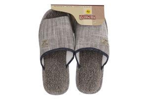 Тапочки комнатные мужские №PM-201516 Gemelli Прайм 2 41-45