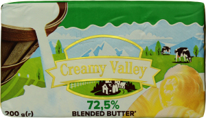 Продукт растительно-сливочный 72.5% Creamy Valley м/у 200г