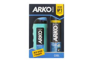 Подарунковий набір ARKO MEN Піна для гоління Cool 200мл та гель для душу Cool 250мл зі знижкою 20%