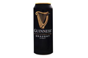 Пиво 0.44л 4.2% темное пастеризованное Draught Guinness ж/б