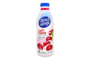 Йогурт 1.5% питний Черешня Біла лінія п/пл 820г