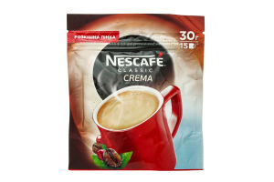 Кофе Crema Classic Nescafe 30г