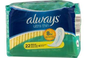 Always Ultra Thin Regular Pads - 22 CT
