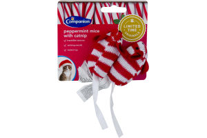 Companion Peppermint Mice with Catnip - 2 CT