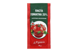 Томатна паста асептичного консервування 25% Фуршет м/у 70г