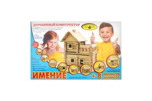 Конструктор Маєток дерево 106деталей Київська фабрика іграшок