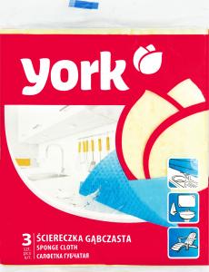 York Губчатая салфетка 3 шт. NY, 180 x 230 x 30 мм