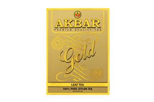 Чай черный среднелистовой Gold Akbar к/у 100г