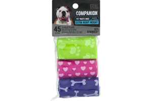 Companion Pet Waste Bags Extra Heavy Weight - 45 CT