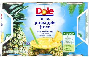 Dole 100% Pineapple Juice - 6 CT