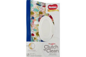 Huggies Clutch 'n' Clean Natural Care Refillable Wipes Fragrance Free - 32 CT