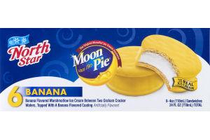 North Star Moon Pie Ice Cream Sandwich Banana - 6 CT