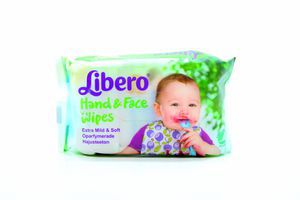 Серветки Libero вологі для рук та обличчя 20шт