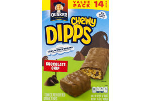 Quaker Chewy Dipps Chocolate Chip Granola Bars - 14 CT