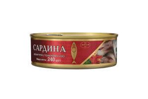 Сардина атлантична у томатному соусі Рижское золото з/б 240г