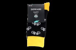 Шкарпетки чоловічі Diwari Happy №17C-151СП 25 чорний-жовтий