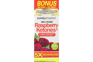Purely Inspired 100% Pure Raspberry Ketones+ Lose Weight Dietary Supplement - 100 CT