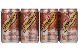 Schweppes Sparkling Seltzer Water Orange - 8 CT